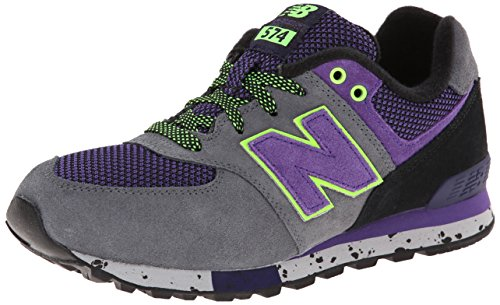 New Balance Classic Traditionnels Grey Purple Youths Trainers - KL5749GG Grey Purple