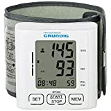 GRUNDIG Handgelenk-Blutdruckmessgerät mit Pulsmessung | Barrierefreie LCD-Anzeige |Mittelwert Ermittlung und Speicherung der Messwerte mit Datum und Uhrzeit | Blutdruck Anzeige nach WHO Skala
