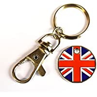 London Union Jack mit Disc und Flagge Metall Schlüsselanhänger Schlüsselbund