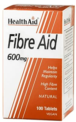 HealthAid Fibre Aid 600mg - 100 Vegan Tablets by HealthAid