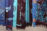 Kunsthandwerk Asien Sarong Hand Painting, Diverse tonalità di Blu Modello: Pareo/Anca/Avvolgente Rock/Telo Mare–(Assortiti–Nessuna preselezione.)