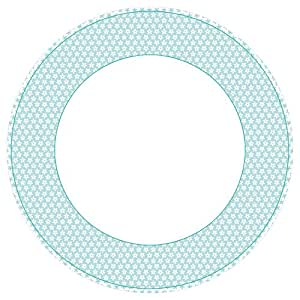 Caspari Assiettes en carton Collection Motif Calico Bleu