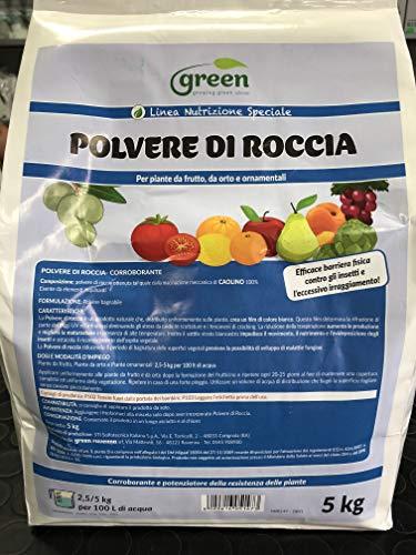 GREEN CAOLINO KG.5 POLVERE DI ROCCIA ANTIMUFFA BIOLOGICO