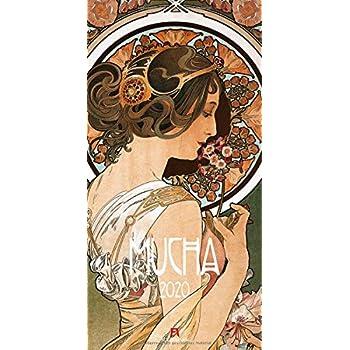 Alfons Mucha 2020, Wandkalender im Hochformat (33x66 cm) - Kunstkalender (Jugendstil) mit Monatskalendarium