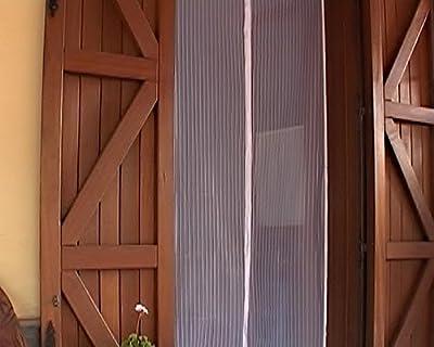 Mosquitera de puerta fijación magnética universal 240 x 140 cm blanco