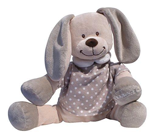 Doodoo Baby Einschlafhilfe Hase - braun-weiß gepunktet