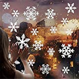 108-er Pack Schneeflocken Fensterbilder Fensterdeko statische Fensterfolie haftende PVC Aufkleber...