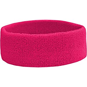 Terry Headband – Frottee Stirnband für Sport & Freizeit Farbe Pink