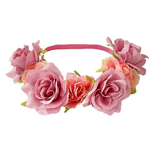 Scrumptious; Elastisches Stirnband mit Blumenmotiv für Festivals, Teekränzchen und Geburtstagspartys, Bunt ()