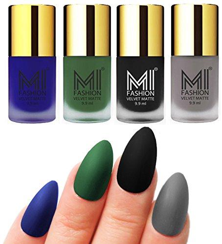 MI-Fashion-Matte-Nail-Polish-Pack-of-499-Ml-Each