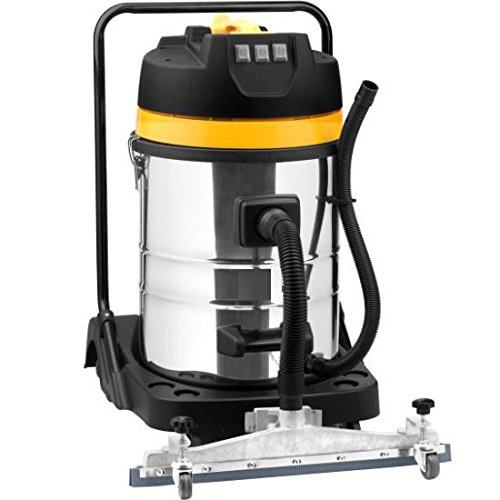 Syntrox Germany 3900 Watt 80 litros de acero inoxidable con la aspiradora industrial aspirador mojado y seco aspiradora