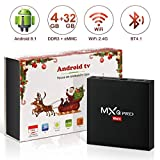 Android 8.1 TV Box, Superpow Smart TV Box Quad Core 4GB RAM+32GB ROM, BT 4.1,...