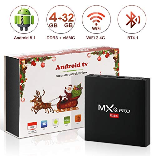 Android 8.1 TV Box 4K Boîtier TV [4GB RAM+32GB ROM] [2018 Dernière Version] SUPERPOW MXQ Pro Max S Android 8.1...