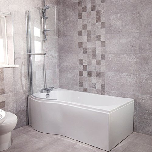 shower-bath-tub-p-shape-acrylic-white-1700-left-hand-bathtub-includes-front-panel-with-shower-screen