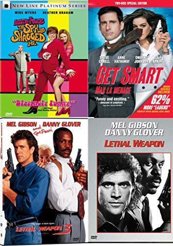 Copedies = Cop + Comedies Get Smart + Lethal Weapon + Spy Who Shagged Me Austin Powers 4-DVD Pack Bundle