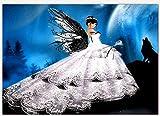 DAMENGXIANG Schmetterling DIY Diamant Malerei 5D Hochzeitskleid Mädchen Handmalerei Dekoration Malerei Magische Cube Drill Kreuz Bestickte Kit 30 × 40 cm