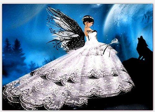 DAMENGXIANG Schmetterling DIY Diamant Malerei 5D Hochzeitskleid Mädchen Handmalerei Dekoration...