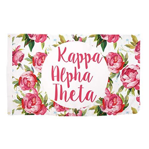 Desert Cactus Kappa Alpha Theta Rose Sorority Flagge Griechischen Buchstaben Verwenden als Großes Banner 3x 5Fuß -