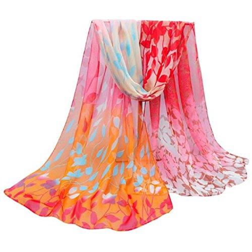 Loveso-Schal Schals elegant Frauen Entwurf druckte Silk weiche Silk Chiffon-Schal-Verpackungs-Schal Wraps Schals - Magie Mitarbeiter