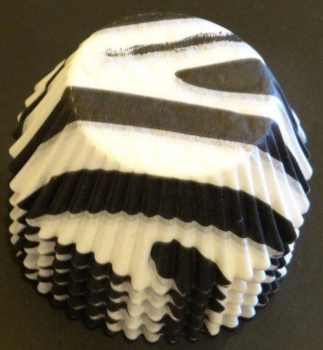 100 Zebra Stripe Printed Cupcake Liners Baking Cups STANDARD SIZE by Baking and Candy Cups