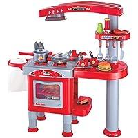 Preisvergleich für Eddy Toys 53595 - Kinderküche mit viel Zubehör, 69 Stück, rot