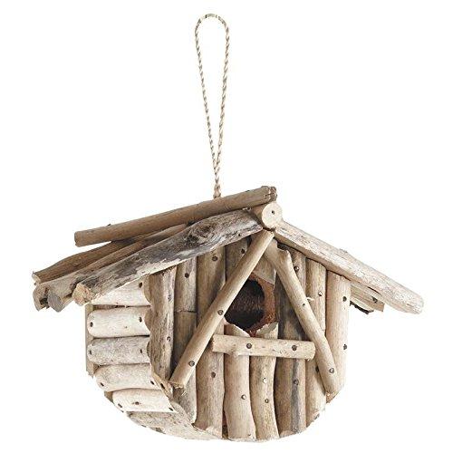 Nichoir à oiseaux en bois flotté