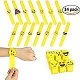 Die besten Goody Freunde für Mädchen - 14 pack Emoji gummi mit armbänder, Gummiarmband Partei Bewertungen