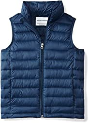 Amazon Essentials Boys' Lightweight Water-Resistant Packable Puffer Vest N