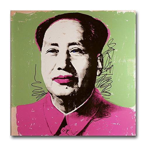 Andy Warhol Revolution (Andy Warhol Mao Rosa Größe L Kunstdruck auf Leinwand Art. China Little Buch rot pop art)