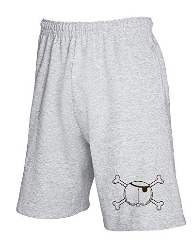 T-Shirtshock - Jogginghose Shorts FUN0896 butt pirate womens plus size vneck tshirt, Gr XL (Plus Size Pirate Shirt)