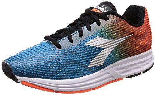 Diadora Action +3, Zapatillas de Running para Hombre, Naranja (Arancio Flameblu Stellare), 44.5 EU