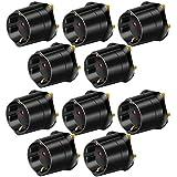 10er Maxi Sparpack Brennenstuhl Reisestecker Adapter, Steckdosenadapter Reise (Für: England Steckdose und Euro Stecker) Farbe: schwarz (10 Stück)