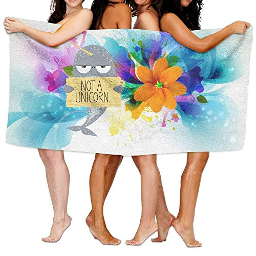 "Proud Clothing I M Not A Unicorn Narwhal Over-Sized Cotton Beach Bath Towels 31""x 51"" (80cm X 130cm)"