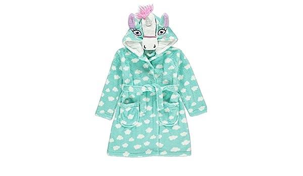 George Girls Unicorn Fleece Hooded Dressing Gown   Pyjamas Set 5-6 Years   Amazon.co.uk  Clothing 737ea4e43