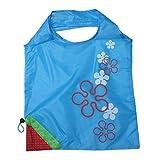 EOZY 5x Hellblau Faltbar Einkaufstasche Einkaufsbeutel Stoffbeutel Shopper Mit Aufdruck