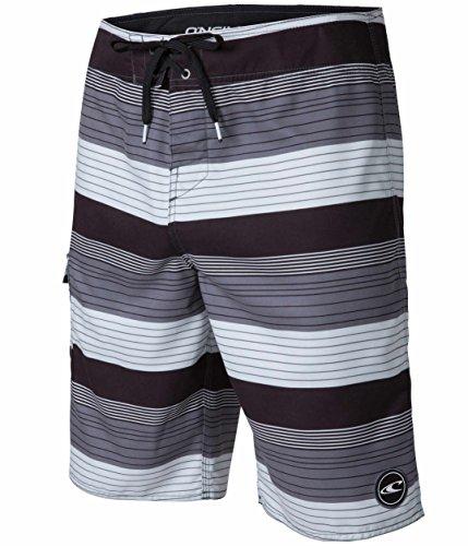 O'Neill Santa Cruz Catalina 2.0 Men's Board Shorts, Black Gray Plaid, Size 32