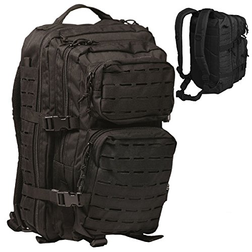 Rucksack US Assault Pack Laser 36l schwarz Tactical Kommando KSK Army BW Outdoor Spezialeinheit Backpack FschJg Navy Seals Ausrüstung Camping Survival #16069