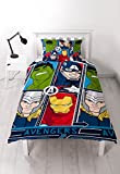 "Disney Marvel Avengers – Set copripiumino singolo""Tech – Repeat Print design"
