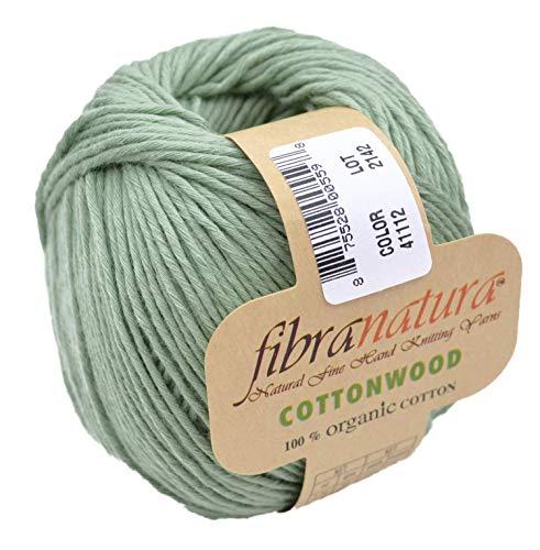 Gründl Fibranatura Cottonwood Fb. 41112 - maigrün, 100% Organic Cotton Baumwollgarn zum Häkeln und Stricken, Schulgarn Topflappengarn -
