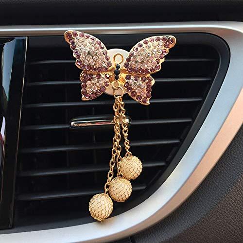 kgftdk Auto Armaturenbrett Dekoration Auto Duft Clip Mode Bogen Perle Diamant Parfüm Air Vent Lufterfrischer Auto Outlet Dekoration Zubehör Trim Ornament Mädchen Geschenk -