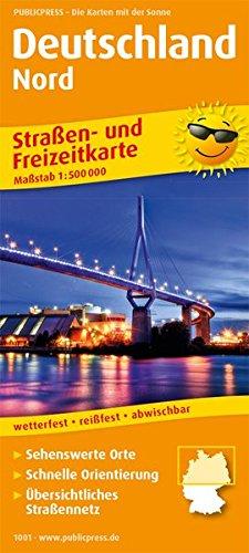 Deutschland Nord: Straßen- und Freizeitkarte mit Touristischen Straßen und Highlights. 1:500000 (Straßen- und Freizeitkarte / StuF)