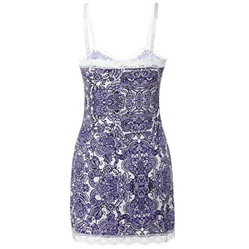 Damen Sexy Spitze Lingerie Babydolls Chemises Kurzes Kleid Muster E