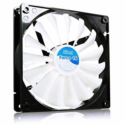 AAB Cooling Silent Force Fan 14 - Leise und Efizient 140mm Gehäuselüfter mit 4 Anti-Vibration-Pads - CPU Lüfter | Ventilator 12V | Kühlung | Kühler