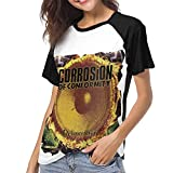 Photo de Kmehsv T-Shirt à Manche Courte Femme, Corrosion of Conformity Woman's Women's Baseball Short Sleeves Comfortable Short Sleeve Soft Baseball T par Kmehsv
