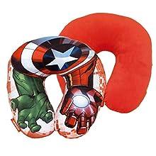 Spiderman Cuscino collo poly 33 x 33 cm di Avengers, multicolore, 33 cm