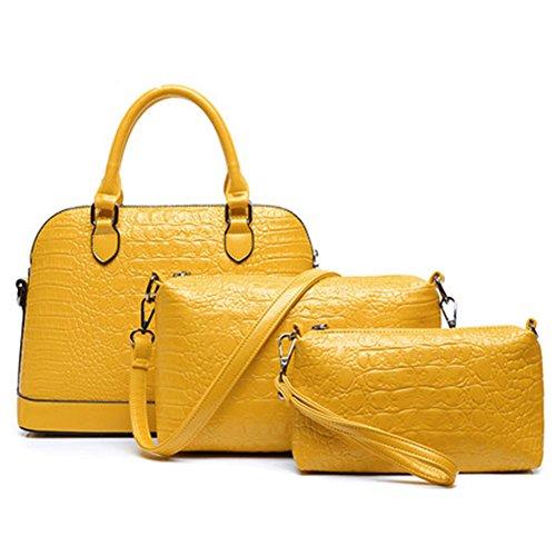 Molly Aux Femmes Handbag Sac Bandoulière Sac À Main 3Pcs Set Jaune