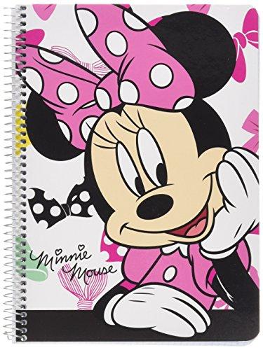 Disney Minnie Mouse Libreta Folio 80 Hojas Tapas duras, Color Rosa, A5, 370 x 20 x 80 mm (SAFTA 511548065)