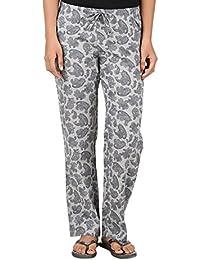 Antshrike Women Cotton Woven Pyjama Nightwear Pant -Grey