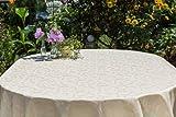Gartentischdecke oval mit Bleiband im Saum, in vielen verschiedenen Größen, Farben acrylbeschichtet, pflegeleicht in Designs:London, beige-crem Maß: 125x170