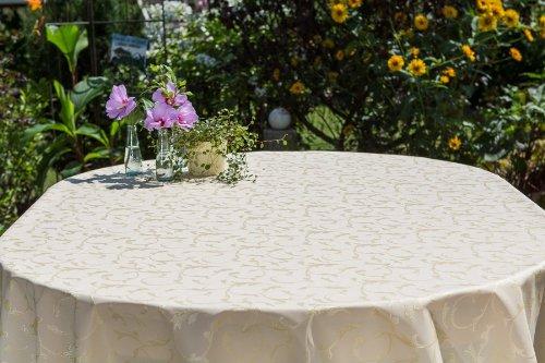 Gartentischdecke oval mit Bleiband im Saum, in vielen verschiedenen Größen, Farben...